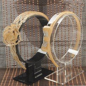 2 Akrilik sürü saç bandı ekran tutucu saç tokası ekran stand saç Mücevherin ekran tutucu saç bandı Vitrin hairband