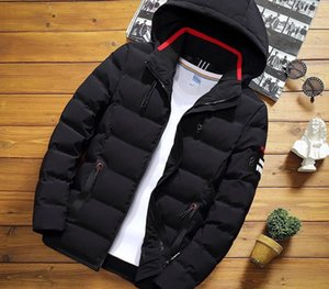Winter Men's Solid Color Short Jacket, Fashion Slim Warm Hooded Cotton Clothing, Large Size Casual Youth Down Jacket S-5XL99