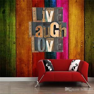 Большой заказ Mural Wallpaper 3D Урожай английский Письмо КТВ Гостиная Backdrop Искусство Обои Нетканые Печатные обои Rolls