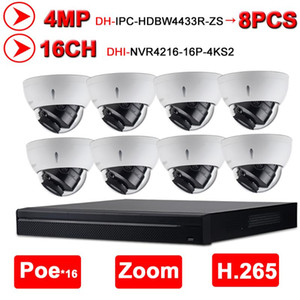 Dahua NVR Kit 16 + 8 Security CCTV Комплекты камеры CCTV 16POE 4K NVR4216-16P-4KS2 + 8 шт. IP-камера HD 4MP IPC-HDBW4433R-ZS 2,7 мм ~ 13,5 мм