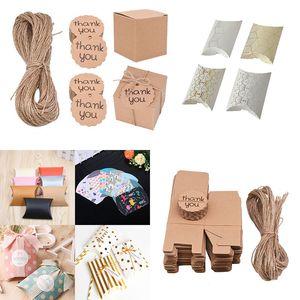Confezione regalo Viaggi Mini contenitori di caramella cuscino del contenitore di carta da sposa festa di compleanno Decorazioni Gift Boxes Packaging