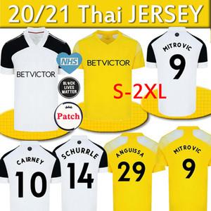 20 21 camisas de futebol MITROVIC Cairney liga 2020 2021 Knockaert SERI Lemina ANGUISSA casa longe AMARELO homens crianças definir camisas do futebol uniforme