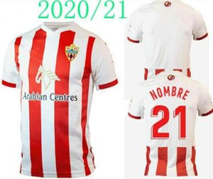 ALMERÍA 2020 2021 Union Deportiva Almería Futebol 14 GUTI Sekou MUNOZ CHEMA LAZO GASPAR PETROVIC Custom Home 20 21 Football CAMISA