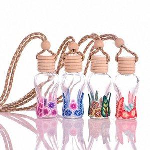 Perfume New alta Car qualidade óleo essencial garrafas vazias 15ml de suspensão vidro Polymer Clay Pendant Flor Forma Garrafa DHL gratuito W8jT #