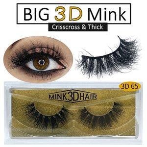 100% Real 3D Mink Hair Lashes Long Dramatic False Eyelashes Crisscross Thick Dramatic Natural Curl Eyelash Extension Beauty Tools 25 Styles