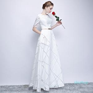 Горячая продажа Uizvtik летнее платье для женщин 2019 Элегантный Формальное бальное платье Длинные платья партии Женщины Повседневная Плюс Размер Тонкий Maxi платья Белый