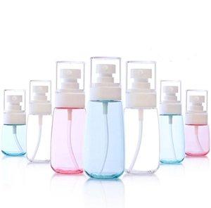 Portable 10ml 30ml 60ml Plastic Spray Bottle Transparent Pink Blue Makeup Moisture Atomizer Pot Fine Mist Sprayer Bottles SN077