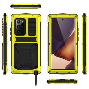 Funda telefónica de protección pesada para Samsung S20 S21 Nota 20 Ultra Shock Resistente al agua resistente a prueba de polvoriento cubierta completa para S20 Plus con soporte