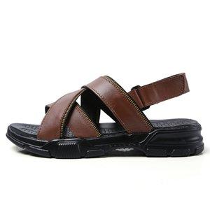 praia sandals sandalias slip em leather geta mens beach hombre rubber plage on de dress s big genuine piel sandale footwear in
