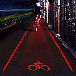 뜨거운 판매 자전거 LED 미등 안전 경고 라이트 5 LED + 2 레이저 램프 밤 산악 자전거 후면 라이트 세트 자전거 환승 액세서리 T191116