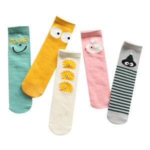 Envío gratis Baby Girls Socks Pierna Calentador de algodón Calcetines de la rodilla Calcetines de Kid Ropa para niños Unisex Toddler Boot Socks Dibujos animados