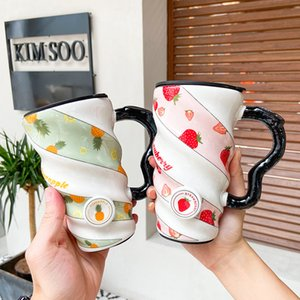 Creative Cool Mug Heart Cup Mass Online Celebrity Trend Coffee Cup Household Ceramic Glass