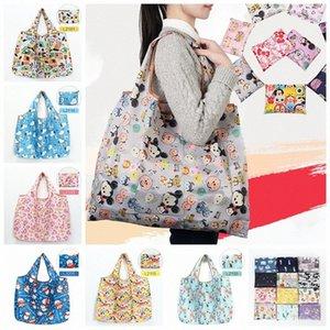 Nylon impermeável dobrável Sacos reutilizáveis saco de armazenamento compras amigável de Eco Bolsas de Grande Capacidade Cosmetic Bag RRA1739 Qg9s #