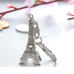 Vintage 3D Paris Eiffel Tower keychain French souvenir Keychain Keyring Key Chain Ring Wholesale Party Favor Gift