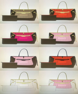 Bolsos clásicos de la moda de la moda de las naverfuls de la moda para las mujeres bolsas de bolso con la bolsa de la bolsa de la bolsa de la bolsa de las compras del bolso del hombro mm GM 8 Color