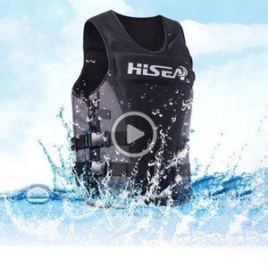 La deriva de la chaqueta de la motora flotabilidad Vida Pesca neopreno Profesión chaleco de vida adulto Chaleco surf natación flotante Ropa