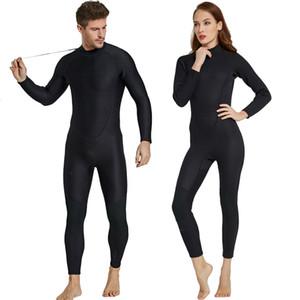 Männer Frauen Wetsuit Voll 2mm Neopren Surfen Anzug Tauchen Schnorcheln Schwimmen Overall Passende Paare Black Wet Suit