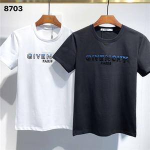 Givenchy FW20 Nouvelle arrivée Top qualité GIV Vêtements T-Shirts pour hommes Print street wear T-shirts manches courtes asiatique M-3XL 8703