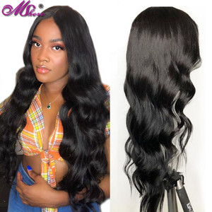 Mshere Hair 4X4 Body Lace Closure Wig 100% Human Hair Peruvian Wig Remy Lace Closure For Black Women 150% density