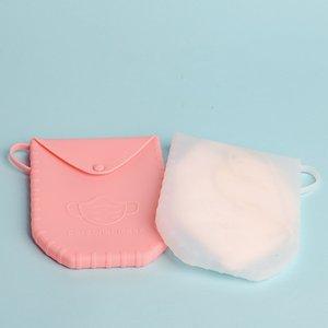 Silikon Staubdichtes Mask-Fall-bewegliche Einweg-Gesichtsmasken Container Sicher Pollution-Free Einweg-Aufbewahrungsbehälter-Speicher-Organisator OWF1036