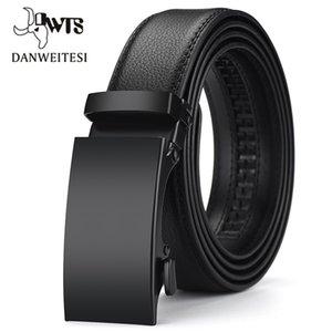 [DWTS] Cinturón de cuero Lujo para Hombres Hebilla Automática Niños Cinturones Cinturon Hombre