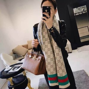 Wholesale wool scarves 180*70cm 2 colors High-end woman Fashion Designs Printing Scarf Ladies Ribbon Headscarf Silk Scarves Wrap