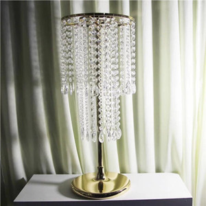 10pcs crystal wedding centerpiece wedding table top chandeliers flower stand event party home decoration