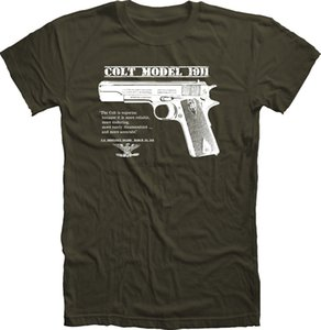 Original US Army Colt 45 1911 Pistol WWII WWI T Shirt Trigger Safety Grips Comfortable T ShirtCasual Short Sleeve TEE
