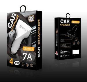 4USB Car Charger 7A QC 3.0 Adaptive ricarica rapida USB corsa della casa della carica della spina del cavo cavo del telefono per il Mobile