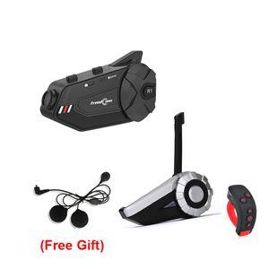 T-Rex + L3 + R1 PLUS Motorcycle Grupo Bluetooth Intercom Helmet Headset 1500M 8 Riders sem fio Communicator com suporte FM