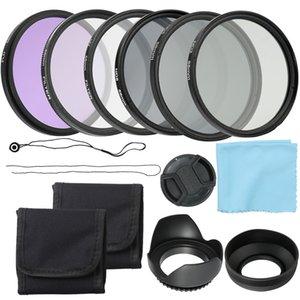 Professional Camera UV CPL FLD Lens Filtros Kit e Altura Foto ND densidade neutra filtro Set Fotografia Acessórios 58 milímetros