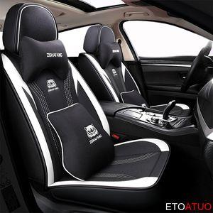 التغطية الكاملة PU غطاء مقعد السيارة جلد مقاعد ألياف الكتان السيارات يغطي لآدم كورسا أسترا نجمي شارة mokka عنترة