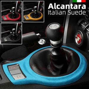 Alcantara camurça Wrapping Auto Control Gear Central de deslocamento do quadro ABS Tampa do carro adesivo decalques para Subaru BRZ Toyota 86 2013-2020