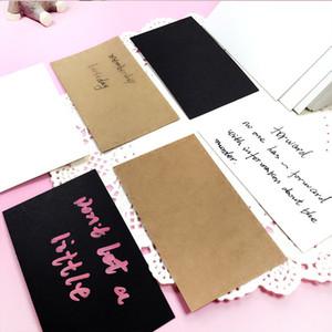 Ano Novo DIY Gift Cartões Cartões Do Duplo Cartão Em Branco Papel Kraft Cartão De Visita Cartão Postal Graffiti Cartão de Cartão de Cartão de Mensagem BH1484 BC