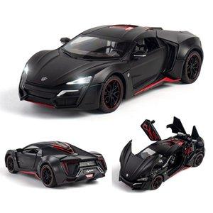 1:24 1:32 Lykan Hypersport Modèle en alliage Diecasts Véhicules miniatures Collection Métal Car Kid Jouets enfants Cadeaux Fast Furious