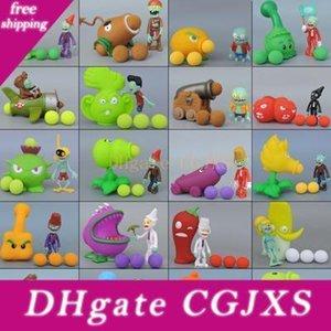 2019 48 nuevos estilos de juego de los juguetes Pvz Plants vs Zombies Peashooter de PVC figura de acción de Modelo Juguetes animado Figurita guisante girasol Melon 10cm