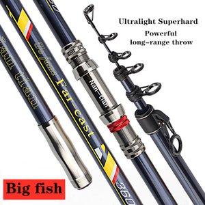 Powerful Big Fish Spinning Fishing Rod Super Hard Strong Telescopic Long Distance Throwing Carbon Pole Sea Rock Boat Jigging XH