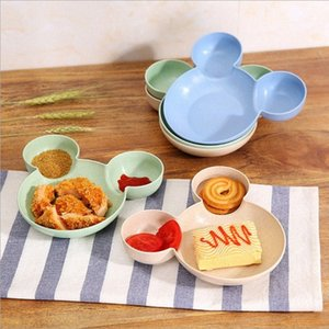 Bamboo Baby Tableware Kids Divided Bowl GRADE ECO Children Baby Plate Feeding Dinnerware Eating Dishes tzvP#