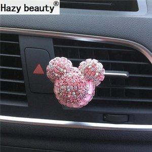 Hazy beleza O novo diamante encantador perfume urso Car, elegante ambientador Car-styling Ornament Car 17VN #