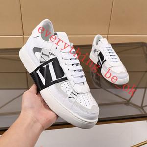 Valentino casual shoes 2.020 hombres y mujeres de piel de becerro VL7N la zapatilla de deporte con Marca, planas con tachuelas las zapatillas de deporte de gran tamaño de becerro