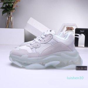 2019 Paris Triple-S 17FW Crystal Bottom Green Luxury Dad Shoes Platform Triple S Sneakers for Men Women Vintage Kanye Old Grandpa l14