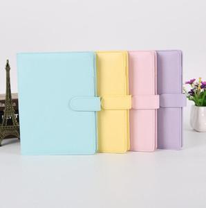 Leere Notizbuch-Mappe ungeheftetes Notebooks ohne Papier PU Kunstleder File Folder Spiral Planer Scrapbook 4 Farben A6 YL239