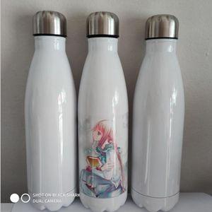 DIY сублимации 17oz заготовки колы бутылки из нержавеющей стали с вакуумной изоляцией бутылка воды с крышкой 6 цветов в имеющемся