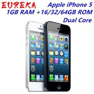 """A Apple iPhone 5 desbloqueado Mobile Phone iOS Dual-core 4,0"""" tela de 8 MP Camera WIFI GPS 16GB / 32GB / 64GB para a opção"""