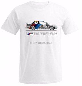 2018 Nueva camiseta de los hombres del verano del O Cuello Tops E30 Yo soy el Rey del Drift Car Drift ventilador camiseta de sintonización calientes de la venta del 100% de algodón Tee Shirts