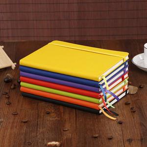 Cahier Hardcover Paperback Premium Papier épais portable Cuir PU Grande Composition Livre garniture Doublée 14,2 * 21,222cm 100heets Sea Shipping OWA905