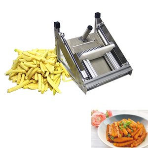 arrugas de acero inoxidable onda placa en onda manual de la máquina de cortar de la máquina de corte de acero inoxidable máquina de corte de virutas de patata comercial