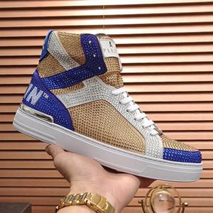 Shaspet Erkekler Ayakkabı Moda Çizme Para Beast Merhaba -Top Casual Erkek Ayakkabı Deri Nefes Bottes Hommes ile Kutusu Moda Tipi Erkek Ayakkabı Luxur