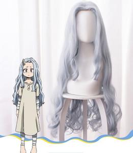 Peluca cosplay Anime mi héroe Academia estación 4 gris azul de pelo largo rizado cosplay del animado de la peluca pelucas de pelo