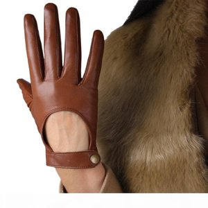 Genuine Leather Gloves Female Spring Autumn Thin Style Unlined Fashion Elegant Woman's Sheepskin Gloves